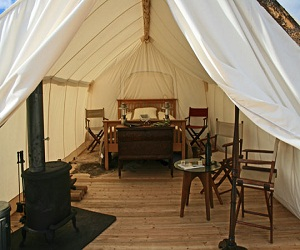 Yellowstone Under Canvas - Luxury 'Glamping'.